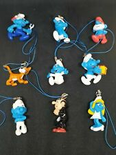 SMURFS Phone Charms Straps Figurines Toy New