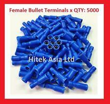 Female Bullet Crimp Terminals, Blue, 16-14 A.W.G , 5000PCS