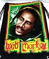 Bob Marley Multi Color AND Black/White Cinch Sack Backpack Bookbag