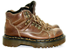 Dr Doc Martens DM Brown Womens Size US 5 UK 3 Boots Made in England Lace Up