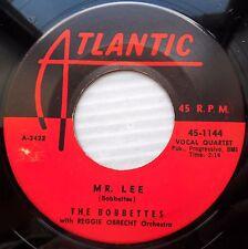 BOBBETTES rock-n-roll R&B 45 MR LEE / LOOK AT THE STARS VG++ orig.ATLANTIC FM512