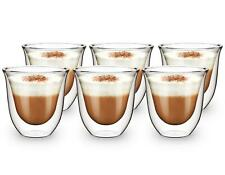 More details for 6 double wall insulated glass thermal coffee glass mug tea cup 165ml