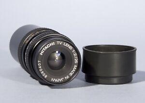 Hitachi TV Television 25mm f/2 2/25 Lens * C Mount * Excellent