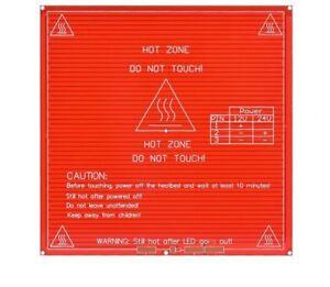 RepRap 3D Printer dual power PCB Heatbed MK2B Heat Bed Hot Plate 12V 24A