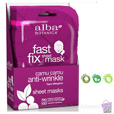 ANTI-WRINKLE Face Mask Sheet Fast Fix fights fine face skin lines Alba Botanica
