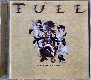 JETHRO TULL CD - CREST OF A KNAVE - REMASTERED - 1 BONUS TRACK - IAN ANDERSON