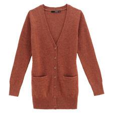 VANCL Women Premium Wool Cardigan Dark Orange, Medium NWT