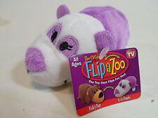 "Little 5"" FLIPZEES Flipazoo Stuffed Animal Bailey Pup LiLi Panda New"