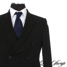 LNWOT Rick Owens 2016 Black Hopsack Fresco DB Jacket Sport Coat Blazer 50 Italy