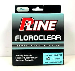 P-Line Floroclear Clear Fishing Line 4 Lb 300 Yards Fluorocarbon Coated
