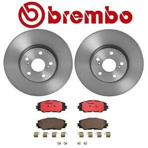 For Pontiac Scion Toyota Corolla Front Brake Kit Disc Rotors Ceramic Pads Brembo