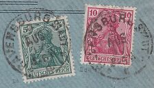 == DR Germania Mi. 86IId + 85IIa auf Brief, gepr. BPP, Kat. 200€ ==