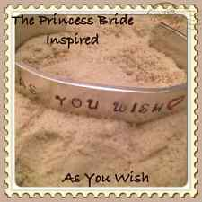 Handmade The Princess Bride Inspired As You Wish Stamped Cuff Geeky Fandom