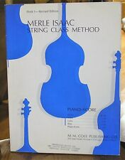 New - Vintage 1966 Merle Issac String Class Method Piano Score Folio Book