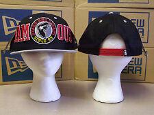 FAMOUS TIP OFF BLACK/RED/GRAY OSFA ADJUSTABLE SNAPBACK HAT
