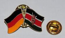 FREUNDSCHAFTSPIN PIN 0086 ANSTECKER DEUTSCHLAND / KENIA FAHNE BUTTON METALL PINS