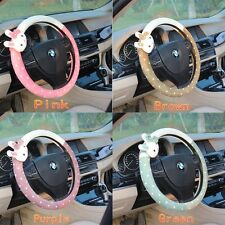 1pc Cute Lovely Plush Rabbit Car Auto Steering Wheel Cover (4 color choice)