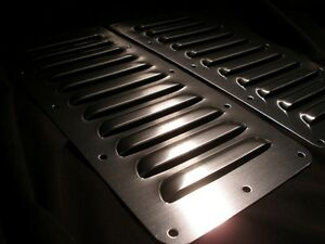 "Pair 5"" Louvered Aluminum Bolt-on panel kit Hood Cooling Jeep louver Rodlouvers"