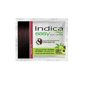 Indica Herbal Hair Color Shampoo Natural Ingredients Easy 10 Minutes for Unisex