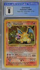 Pokemon Base Set Charizard 4/102 Holo Unlimited CGC 8 PSA BGS