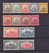 MARIANA ISLANDS GERMAN COLONY 1901 YACHT SET COMPLETE MNH/OG CV $305.00
