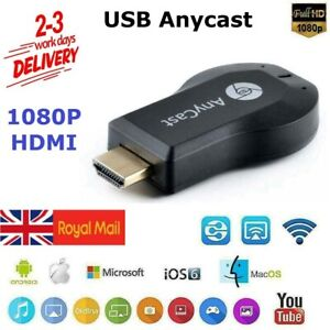 AnyCast DLNA Wireless WiFi 1080P HD HDMI TV Stick Chromecast Airplay Dongle UK