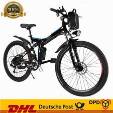 """Elektrofahrrad 26"""" Elektro Fahrrad Fatbike ALU-Klappbar Faltrad EBike 21 Gänge"""