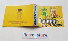 Nintendo Game Boy Color Ronaldo V-Football Notice / Instruction Manual