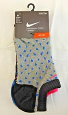 Nike Kids' 3 Pack Graphic Lightweight No-Show Socks Size 5Y-7Y *New*