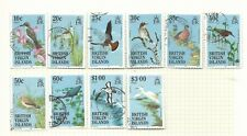 1985 Birds Part set of 10 Used Sold as per Scan