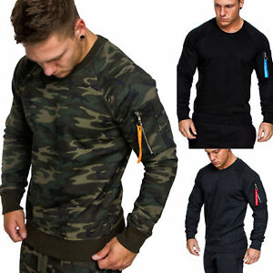 Herren Cargo Pullover Sweatshirt Hoodie Pulli Sweater Camouflage 4006