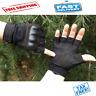 Adjustable Men's Tactical Gloves Army Knuckles Black Hard Knuckle Sewn in Brass