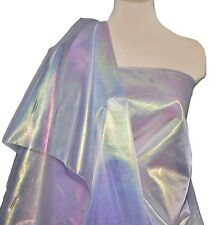 SHEER PEARLIZED LAME LILAC FABRIC.. FORMAL,  PAGEANT, COSTUME.. DECOR