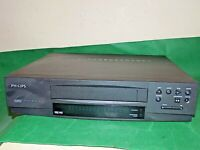 PHILIPS VCR VHS VIDEO CASSETTE RECORDER Vintage VR231 Grey Black Smart FAULTY