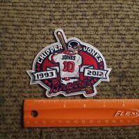 Chipper Jones Atlanta Braves #10 Retirement 1993-2012 Sew or Iron on Patch NEW