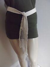 Lot of 3 Belts MEDIUM OFF-WHITE 60's 70's BELT Crochet JUTE TURQUOISE M