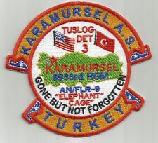 USAF BASE PATCH, KARAMURSEL AS, TUSLOG DET 3,        GONE BUT NOT FORGOTTEN    Y