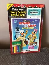 Vintage 1985 Fisher-Price Disney Activity Book & Tape Donald & Daisy Astro-Ducks