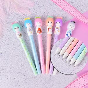 1X Cute Kimono Japanese Girl Doll Gel Pen Writing Signing School Stationery  HB