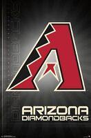 ARIZONA DIAMONDBACKS - LOGO POSTER - 22x34 MLB BASEBALL 14677