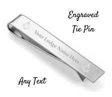 Personalised Masonic Tie Pin - Freemason - Mason - Add your lodge