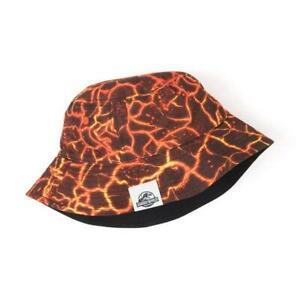 NWT Gymboree Jurassic Park Boys Lava Reversible Bucket Sun Hat 4T 5T