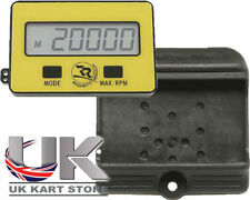 RPM Rev Tachometer Counter With Holder UK KART STORE