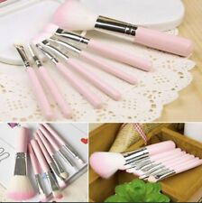 7 Pcs Professional Wood Pink Makeup Brushes