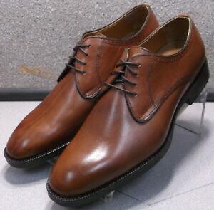 152663 MS50 Men's Shoes Size 10 M Dark Tan Leather Lace Up Johnston & Murphy