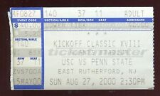 Ticket College Football Kickoff Classic 2000 8/27 USC Penn State Joe Paterno