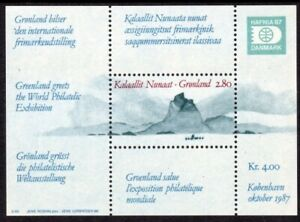 Greenland Scott #199 VF MNH 1987 HAFNIA '87 Souvenir Sheet