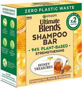 Garnier Ultimate Blends Honey Treasures Strengthening Shampoo Bar for Damaged H