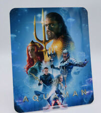 AQUAMAN - Glossy Bluray Steelbook Magnet Magnetic Cover (NOT LENTICULAR)