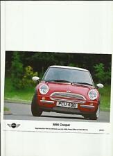 "MINI COOPER JUNE 2001 PRESS PHOTO""car brochure related"""
